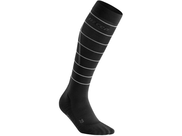 cep Reflective Socks Women, czarny